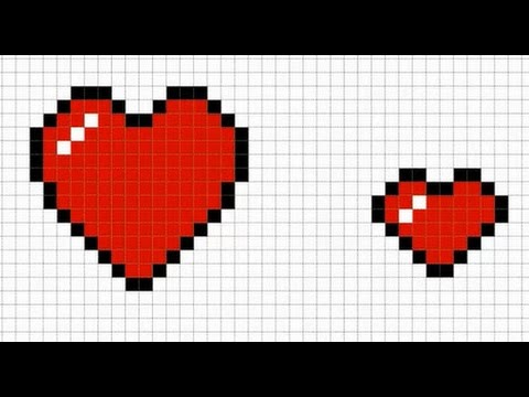 How To Make A Heart Pixilated By Mothers Day Pixelart Tuto