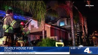 Perris: Two Dead and Two Injured in Morning House Fire