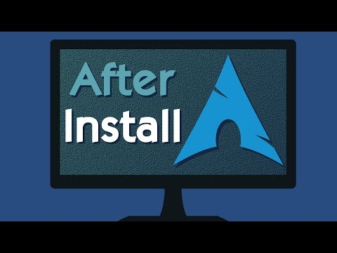 10 Things to do first in Arch Linux