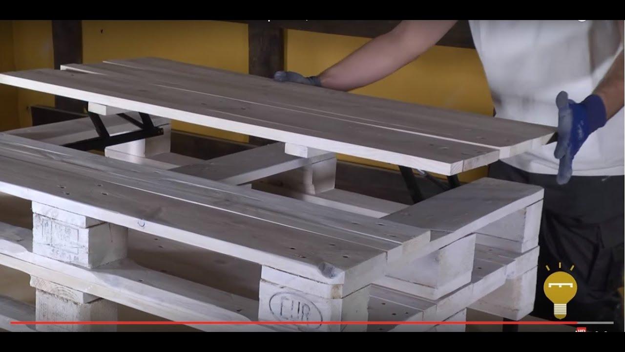 Cmo hacer una mesa de centro elevable con palets  Re