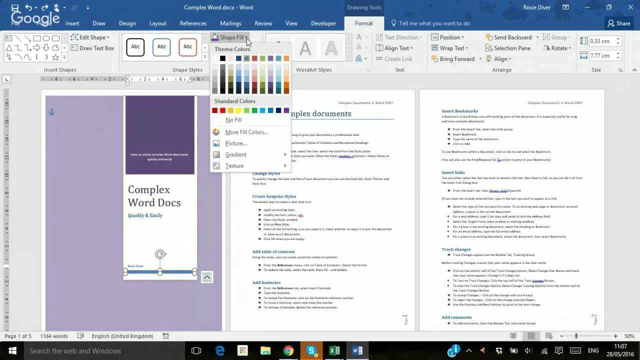how to create a cover page in word 2016