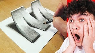 How To Draw 3D ART On Paper (LIFE HACK)