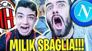 Milan Napoli 0-0 LIVE allo STADIO! MILIK SBAGLIA IL GOAL!!! ( PARATA DONNARUMMA )