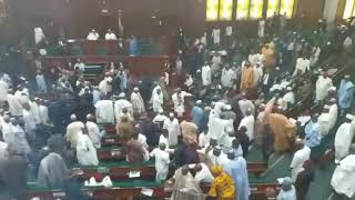 How lawmakers fought over Buhari's budget presentation