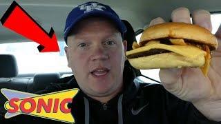 Sonic Fritos Chili Cheese Jr Burger (Reed Reviews)