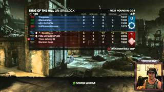 Gears of War 3 KotH Tournament - Team Heartbreakers - Gridlock Rd. 2 (Live Video Commentary)
