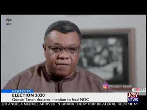 Election 2020: Goosie Tanoh Declares Intention To Lead NDC - News Desk on JoyNews (30-8-18)