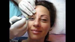 Machiaj semipermanent ochi tatuaj semip sprancene Zarescu Dan ZDM http://www.machiajtatuaj.ro