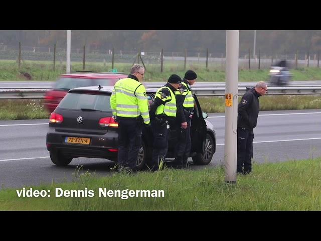 Uitgebreid politie onderzoek op A1 bij Hengelo na schietincident