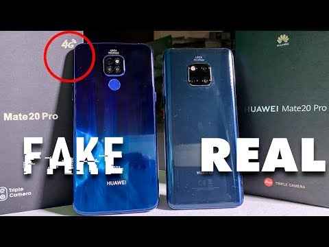 Huawei Mate 20 Pro FAKE Vs REAL (Español)