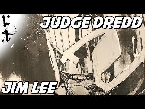 Jim Lee drawing Judge Dredd