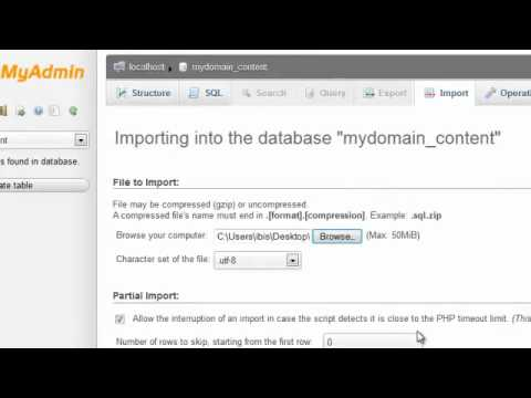 How to import your MySQL database « HostGator com Support Portal