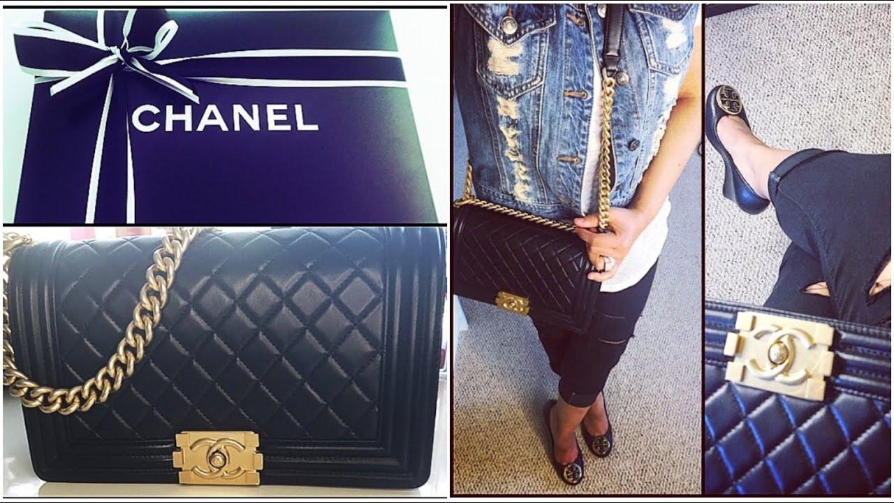 57dbab06ae7b Chanel Le Boy Bag REVIEW! Old Medium Size - YouTube