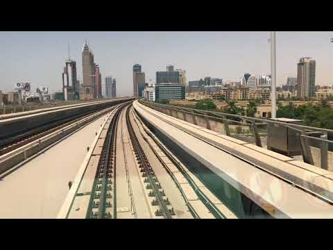 Dubai Metro !! Awesome View , From Damac Properties to Mall of Emirates !! Wonderful weather
