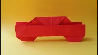 оригами машинка. Бумажный автомобиль