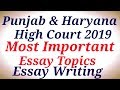 Most Important Topics|Essay Writing|Punjab & Haryana High Court 2019| Special Education