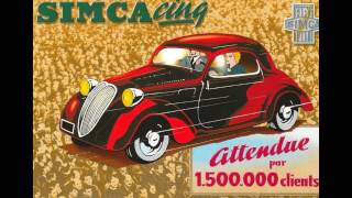 SIMCA, une voiture française à travers la carte postale et autres supports