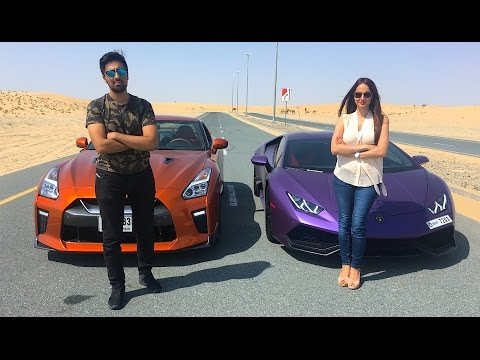 LAMBORGHINI RACING VS MY SISTER !!!