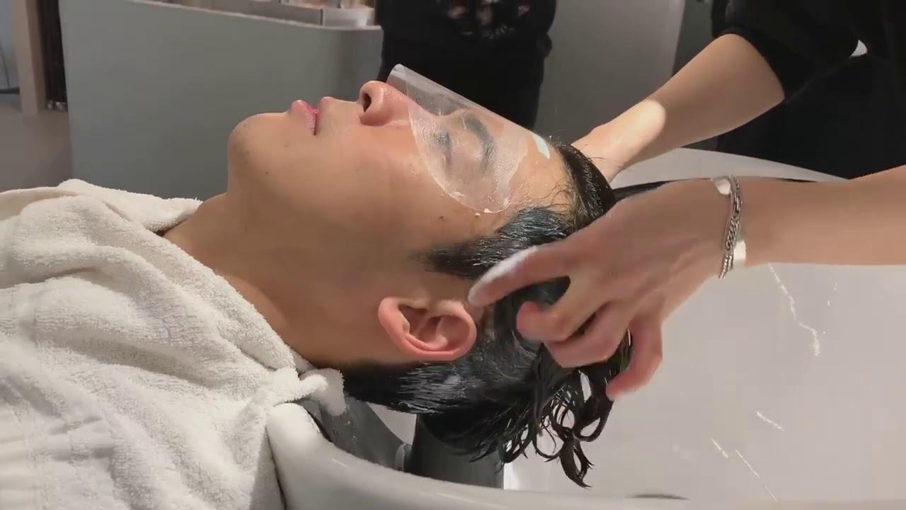 韓式gentleman 魔術直髮霜 mui院長示範壓貼燙正確沖水方式 - YouTube