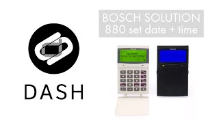 Set the date and time on a Bosch Solution 880