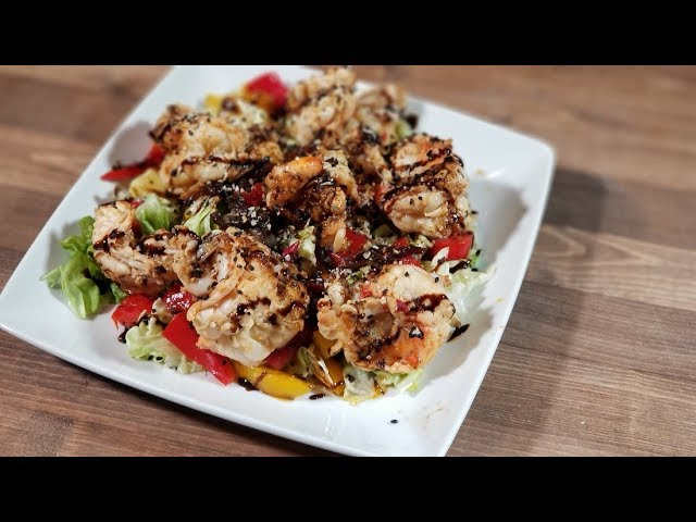 Warm Balsamic Shrimp Salad !!