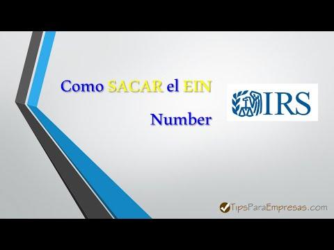 ⌨️ 💰 Como sacar el EIN Number ante el IRS en EE UU 💰