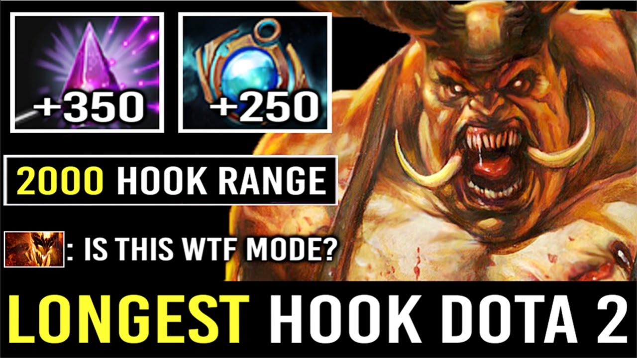 The Longest Hook In Dota 2 Seer Stone Pudge 2000 Cast Range