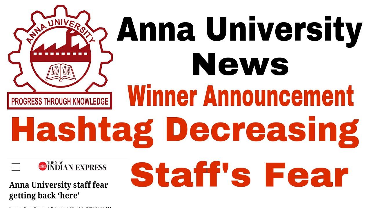 Anna University | Hashtag Decreasing | Staff's Fear | Winner Announcement | Tamil