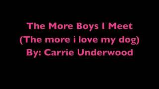The More Boys I Meet (The More I Love My Dog) with Lyrics