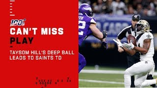 Taysom Hill's Deep Ball Leads to Saints TD!