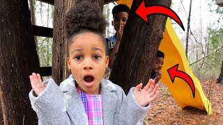 Best Hiding Spot Outside Johny Johny Yes Papa | Kids Pretend Play