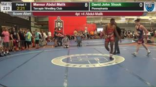 2325 Junior Men 220 Mansur Abdul Malik Terrapin Wrestling Club vs David John Shook Pennsylvania 4139