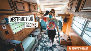 Vintage RV Renovation BEGINS!… And We Have No Idea What We're Doing