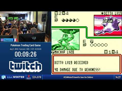 #ESAWinter19 Speedruns - Pokémon Trading Card Game [Any% With Tutorial] By Raagentreg