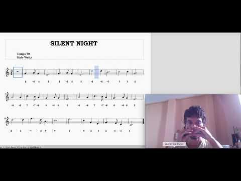 Easy harmonica songs: Silent Night (diatonic harmonica tabs)