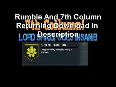 Rumble Audio MP3 Download - Shaxx Seventh Column Returning