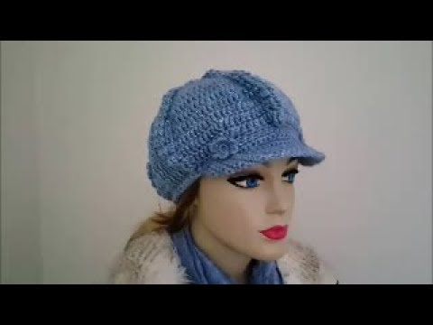 Crochet Tutorial Newsboy Cap Part 1 Youtube