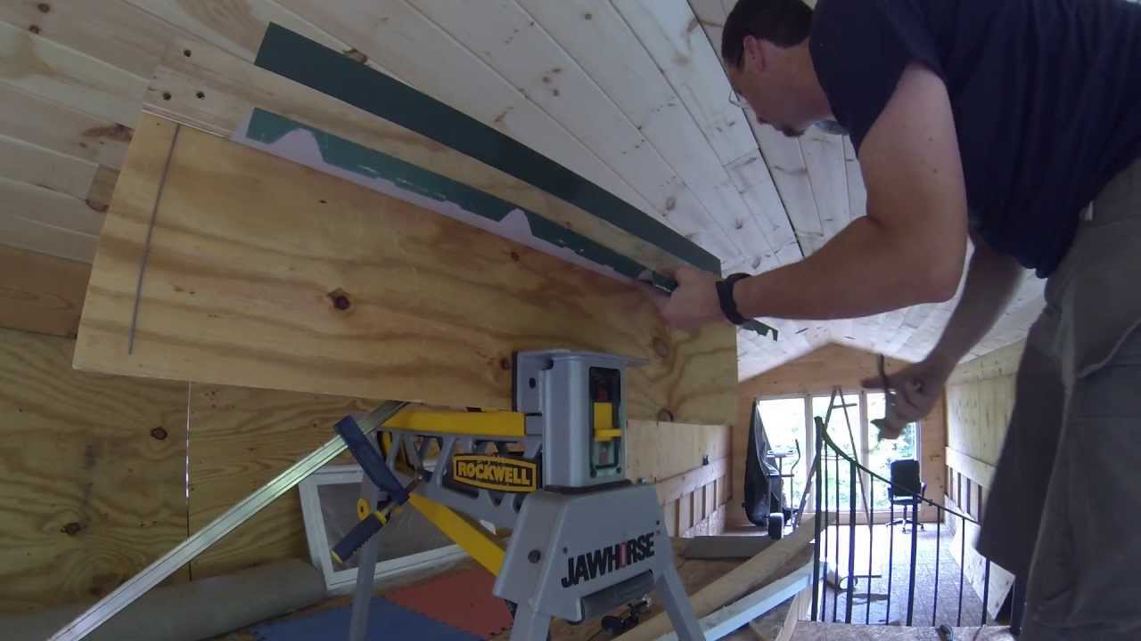 Bending Roofing Metal Flashing With A Homemade Brake