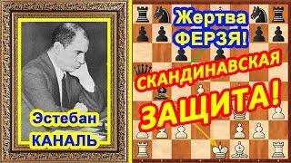 Шахматы ♔ Эстебан Каналь ♕ Шахматные ЛОВУШКИ в дебюте Скандинавская защита!