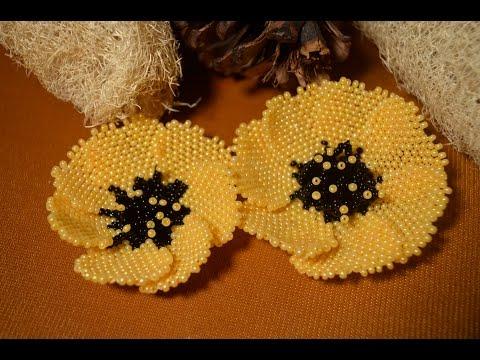 Цветы из бисера для начинающих мастер класс с пошаговым фото