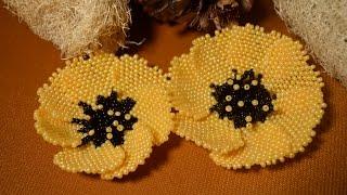 Цветок из бисера. Бисероплетение.  Мастер - класс / Flowers from beads. Beading(Если Вы желаете приобрести какое то из украшений МК которых предоставлено на этом канале приглашаю в Инста..., 2015-05-14T10:48:28.000Z)