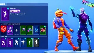 NEW! INTENSITY EMOTE + OTHER DANCES With GALAXY & BEEF BOSS SKIN! Fortnite Battle Royale