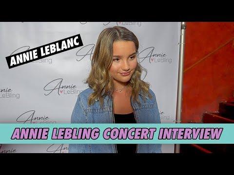 Annie LeBlanc - Annie LeBling Concert Interview