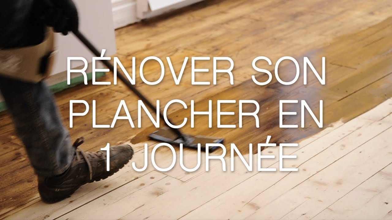 r nover son plancher en 1 journ e avec l huile monocouche. Black Bedroom Furniture Sets. Home Design Ideas