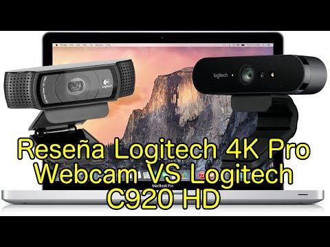 Reseña Logitech 4K Pro Webcam Brio VS C920 HD en Español