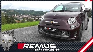 Fiat 500 Abarth with REMUS axle-back sport exhaust system