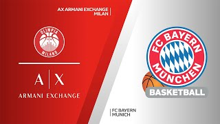 AX Armani Exchange Milan - FC Bayern Munich Highlights | Turkish Airlines EuroLeague, RS Round 21