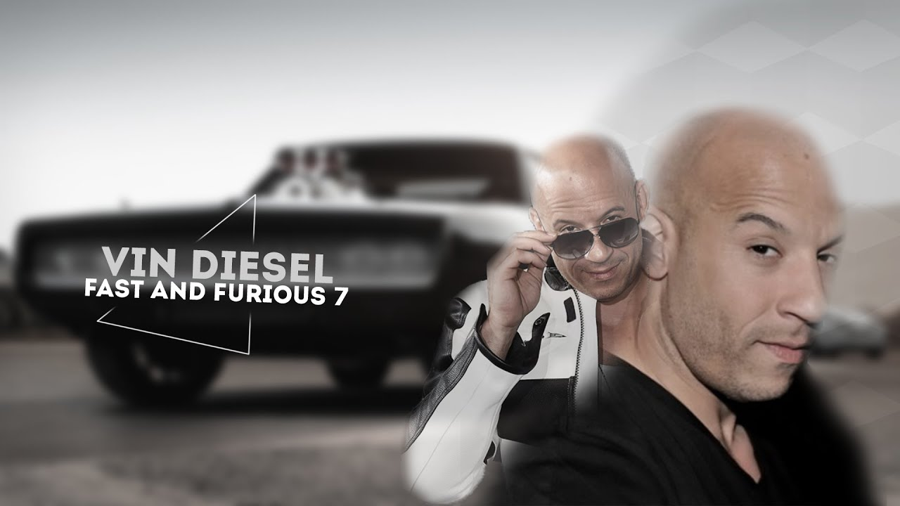vin diesel wallpaper (fast and furious 7) speedart - youtube