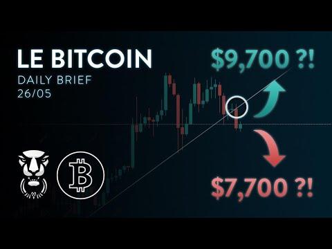 BITCOIN PRÊT À REBONDIR AVANT GROS MOUVEMENT BAISSIER ?! - Analyse Crypto Bitcoin FR Altcoin 1