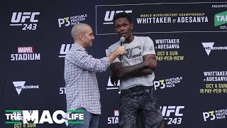 "Israel Adesanya: ""He's not the first Maori I've fought, trust me"" 
